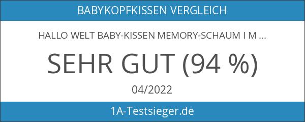 HALLO WELT Baby-Kissen Memory-Schaum I Mit Mulde Gegen Plattkopf I