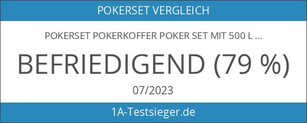Pokerset Pokerkoffer Poker Set mit 500 LaserChips Pokerchips Alu Pokerkoffer