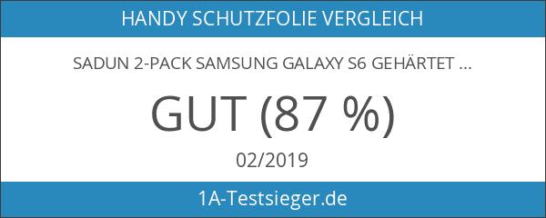 Sadun 2-Pack Samsung galaxy S6 Gehärtetem Glas Panzersglas Schutzfolie Displayschutzfolie