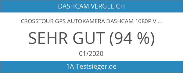Crosstour GPS Autokamera Dashcam 1080P Vorne und 720P Hinten Kamera