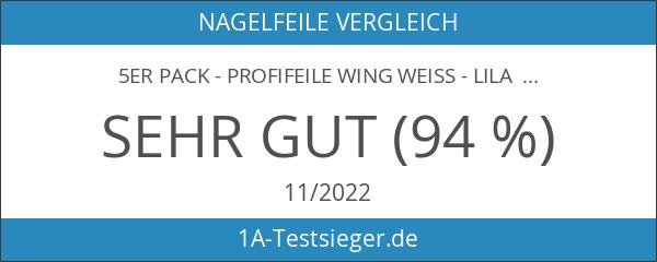 5er Pack - Profifeile Wing weiss - lila Kern -