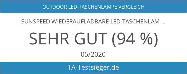 SUNSPEED Wiederaufladbare LED Taschenlampe