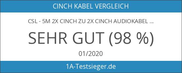 CSL - 5m 2X Cinch zu 2X Cinch Audiokabel