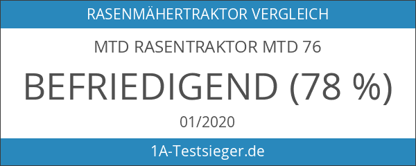 MTD Rasentraktor MTD 76