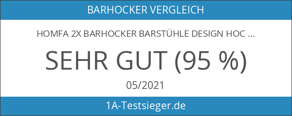 HOMFA 2x Barhocker Barstühle Design Hocker mit Fußablage drehbar stufenlose