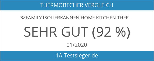 3zfamily Isolierkannen Home Kitchen thermoses Edelstahl isoliert Thermos Tasse Kaffee