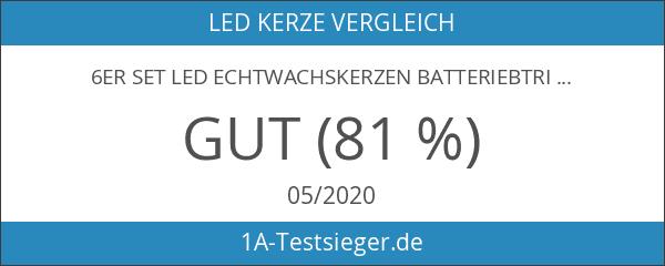 6er Set LED Echtwachskerzen batteriebtrieben Lights4fun