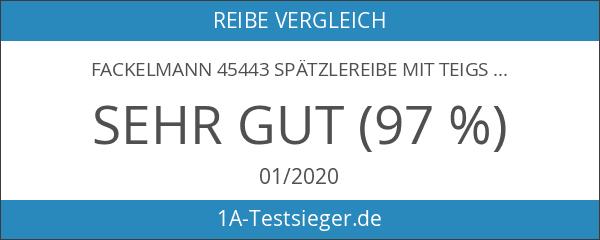 Fackelmann 45443 Spätzlereibe mit Teigschaber