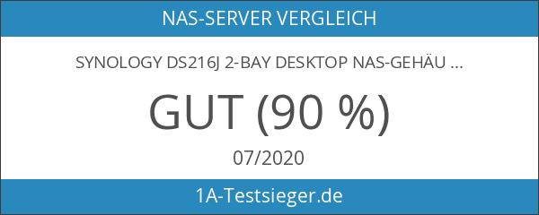 Synology DS216j 2-Bay Desktop NAS-Gehäuse