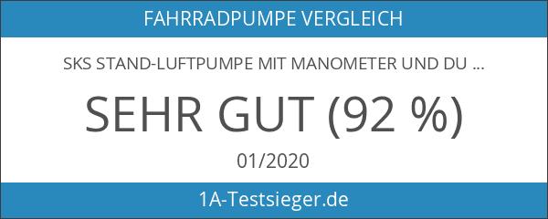 SKS Stand-Luftpumpe mit Manometer und Duokopf für alle Ventilarten Air