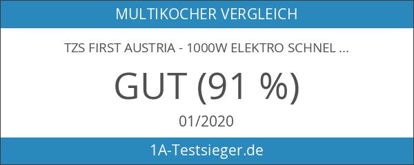 TZS First Austria - 1000W Elektro Schnellkochtopf 8 Auto Progrogramme