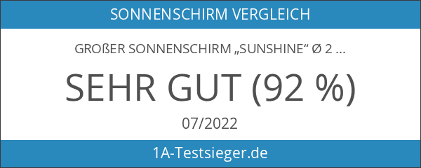 "Großer Sonnenschirm ""Sunshine"" ø 240cm"