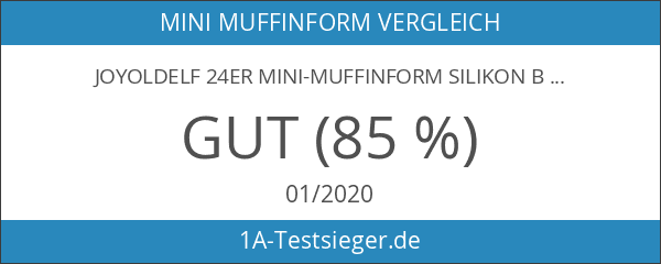 Joyoldelf 24er Mini-Muffinform Silikon Backform