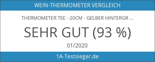 Thermometer Tee - 20cm - gelber Hintergrund Temperaturbereich bis 110°C