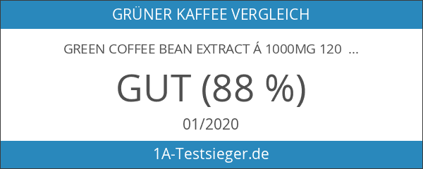 Green Coffee Bean Extract á 1000mg 120 Kapseln Grüner Kaffee