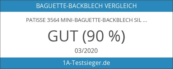 Patisse 3564 Mini-Baguette-Backblech Silver Top 26 x 24 cm