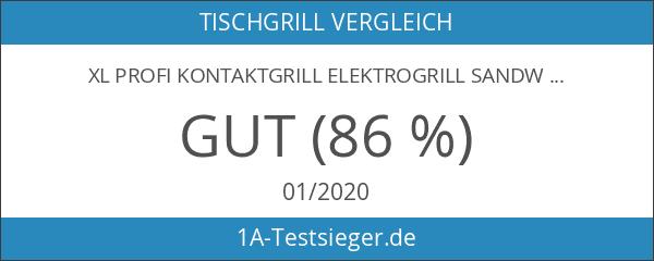 XL Profi Kontaktgrill Elektrogrill Sandwichtoaster 180° aufklappbar Grill Tischgrill Temperatur