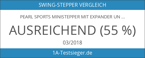 PEARL sports Ministepper mit Expander und Trainingscomputer