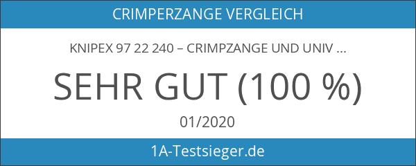 Knipex 97 22 240 – Crimpzange und Universalzange in einem
