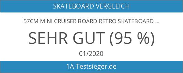 57cm Mini Cruiser board Retro Skateboard mit LED Leuchtrollen und