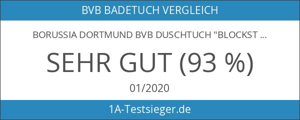 """Borussia Dortmund BVB Duschtuch """"Blockstreif"""" Fanartikel 140x70cm"""