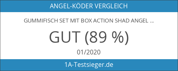 Gummifisch Set mit Box Action Shad Angel Berger Softbait