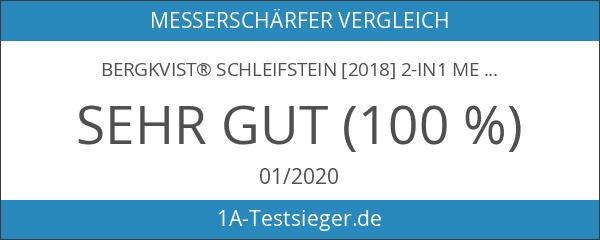 BERGKVIST® Schleifstein [2018] 2-in1 Messerschärfer Schleifstein-Set 6000