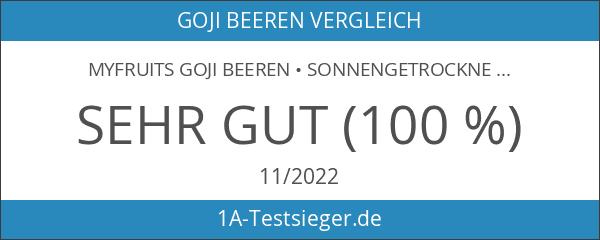myfruits Goji Beeren • sonnengetrocknet • 100% Goji Beeren •
