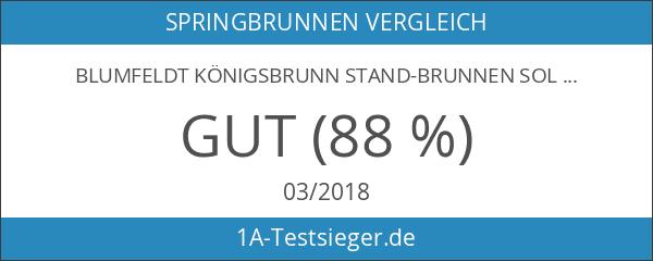 Blumfeldt Königsbrunn Stand-Brunnen Solar Kugel Springbrunnen für Wintergarten