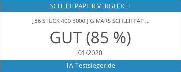 [ 36 Stück 400-3000 ] GIMARS Schleifpapier Sortiment Trocken