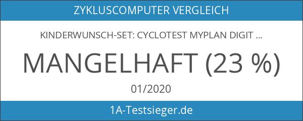 Kinderwunsch-Set: cyclotest myPlan digital Zyklus-Computer mit Basalthermometer