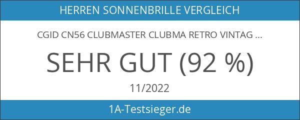 CGID CN56 Clubmaster clubma Retro Vintage Sonnenbrille im angesagte 60er