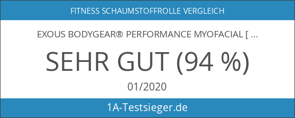 exous Bodygear® Performance myofacial [Hohe Dichte] EVA Raster Schaumstoff Advanced