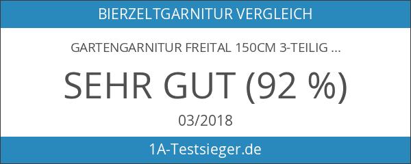 Gartengarnitur Freital 150cm 3-teilig