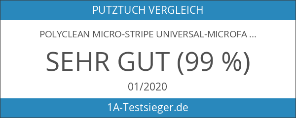 POLYCLEAN Micro-Stripe Universal-Microfasertuch 40x30 cm