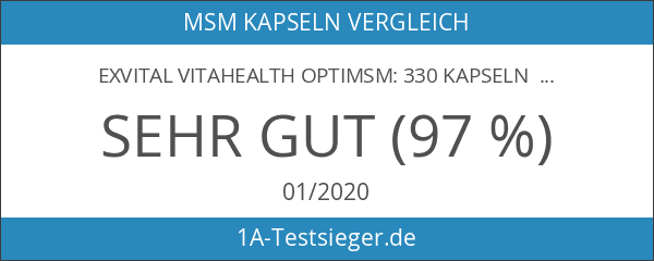 EXVital VitaHealth OptiMSM: 330 Kapseln OptiMSM in Premiumqualität