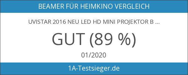 UVISTAR 2016 NEU LED HD Mini Projektor Beamer Multimedia Heimkino-Projektor