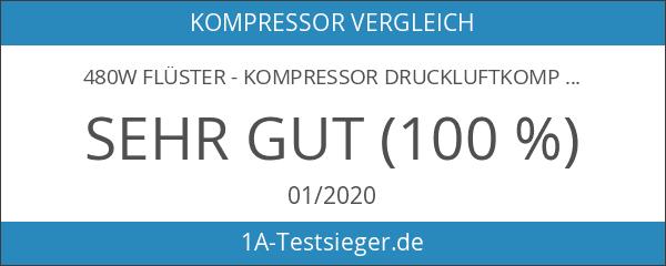 480W Flüster - Kompressor Druckluftkompressor nur 48dB leise ölfrei IMPLOTEX