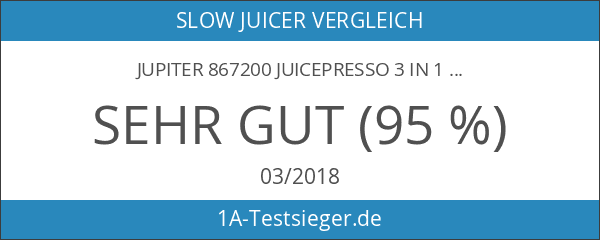 Jupiter 867200 Juicepresso 3 in 1