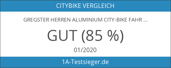 Gregster Herren Aluminium City-Bike Fahrrad StVZO