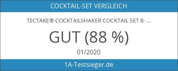 TecTake® Cocktailshaker Cocktail Set 8-teilig Shaker Bar Mixer