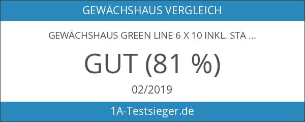 Gewächshaus Green Line 6 x 10 inkl. Stahlfundament