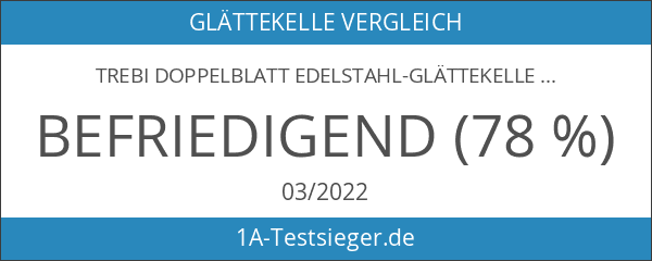 TREBI Doppelblatt Edelstahl-Glättekelle Softgriff blau 280 x 110 mm -