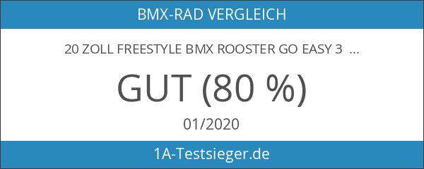 20 Zoll Freestyle BMX Rooster Go Easy 3 Farben