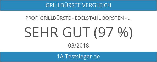 Profi Grillbürste - Edelstahl Borsten - 45 cm Massivholz Griff