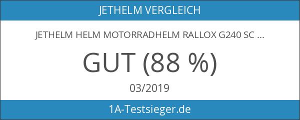 Jethelm Helm Motorradhelm RALLOX G240 schwarz