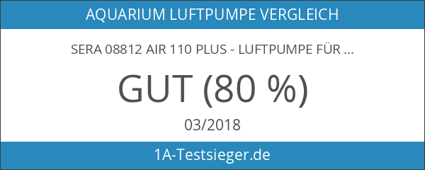 sera 08812 air 110 plus - Luftpumpe für Aquarien 110