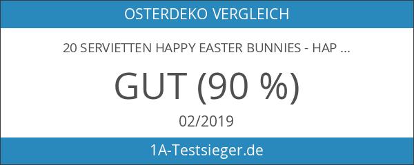 20 Servietten Happy Easter Bunnies - Happy Easter Hasen