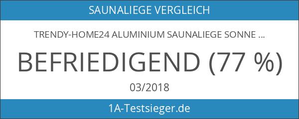 Trendy-Home24 Aluminium Saunaliege Sonnenliege Gartenliege Alu Liege mit Dach Dreibeinliege