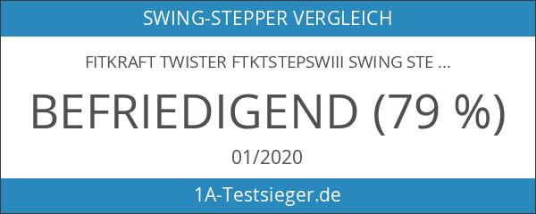 Fitkraft Twister FTKTSTEPSWI000 Swing Stepper Drehstepper Sidestepper mit Computer und